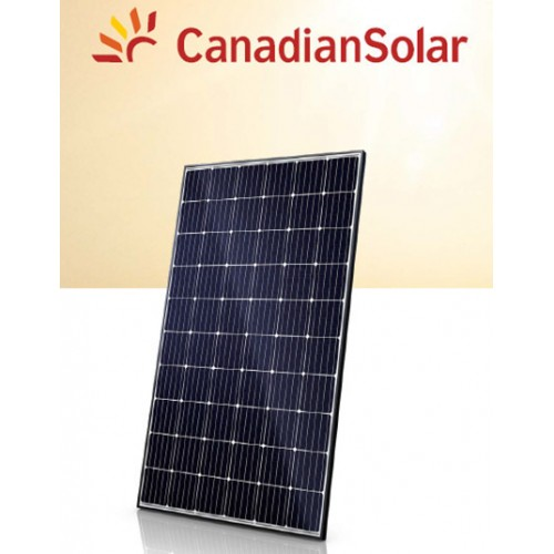Panel fotovoltaico Canadian Solar Super Power 300W mono PERC. Marco negro, 60 cel